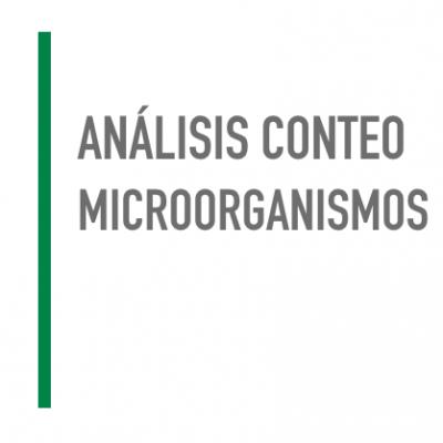 Análisis conteo microorganismos