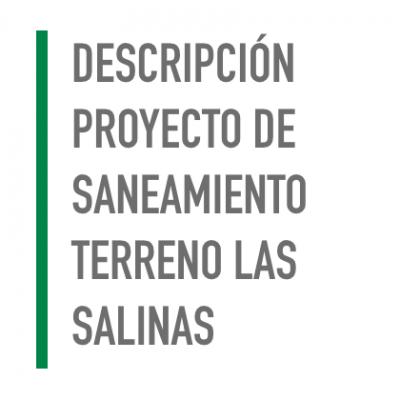 Descripción proyecto de saneamiento