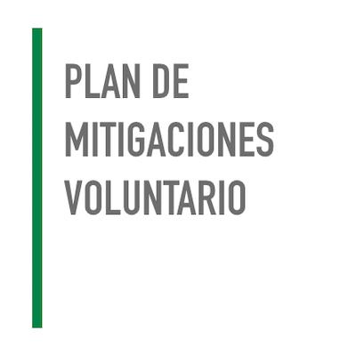 Plan de Mitigaciones Voluntario
