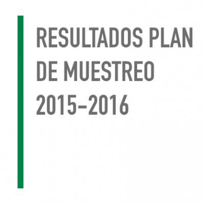 Resultados Plan de Muestreo 2015-2016