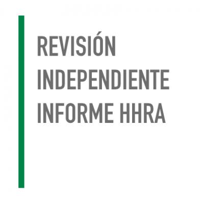 Revisión Independiente Informe HHRA