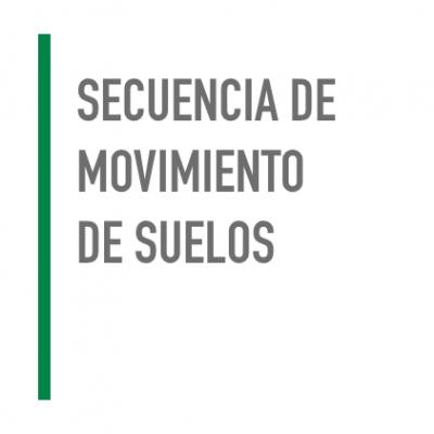 Secuencia de movimiento de suelo